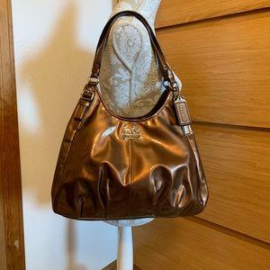 Coach 18760 Maggie Bronze Patent Leather Bag
